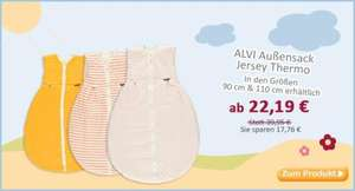 Alvi Thermo-Jersey-Schlafsack Gr. 90 cm oder 110 cm ab 22,19€ online @baby-markt.de