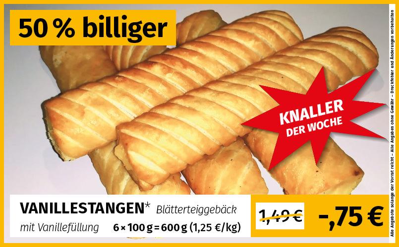 Frostkauf [Berlin, Magdeburg, Halle, Leipzig Jänickendorf] Knaller der woche Vanillestangen mit Vanillefüllung 6 mal 100g (1,25€ pro kg)