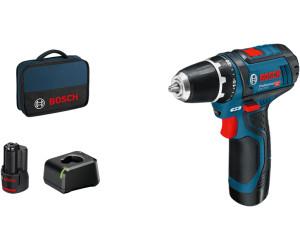 Bosch Professional GSR 12V-15 (2 x 2,0 Ah Akku, Ladegerät, Tasche)