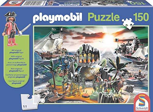 Schmidt Spiele Puzzle mit Playmobil-Figur: Playmobil Pirateninsel, 150 Teile für 5,99€ (Amazon Prime & Galeria Kaufhof Abholung)