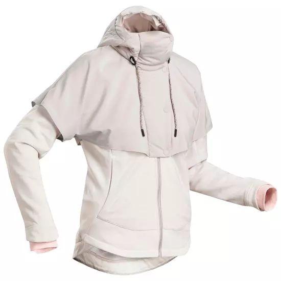 Hybrid-Sweatshirt-Jacke Naturwandern NH500 Damen beige [14,99 € bei Filialabholung]