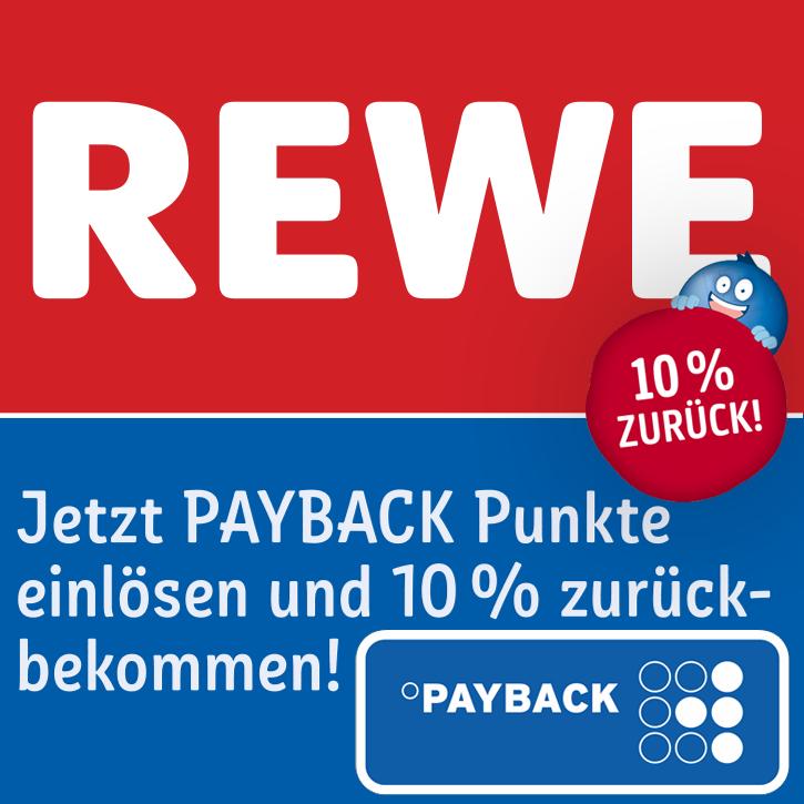 [REWE] Payback Punkte einlösen und 10% zurückbekommen (als Extra-Punktecoupon) - auch online