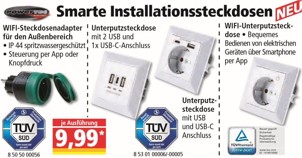 Smarte Installationssteckdosen für jeweils 9,99 Euro [Norma - nicht in allen Filialen]