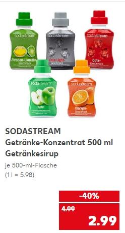 [Kaufland ab 19.03] SODASTREAM Getränke-Konzentrat in verschiedenen Sorten. 500ml Konzentrat für je 2,99€