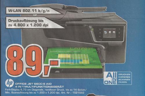 HP Officejet 6600 mit WLAN [Saturn offline, Hamburg]