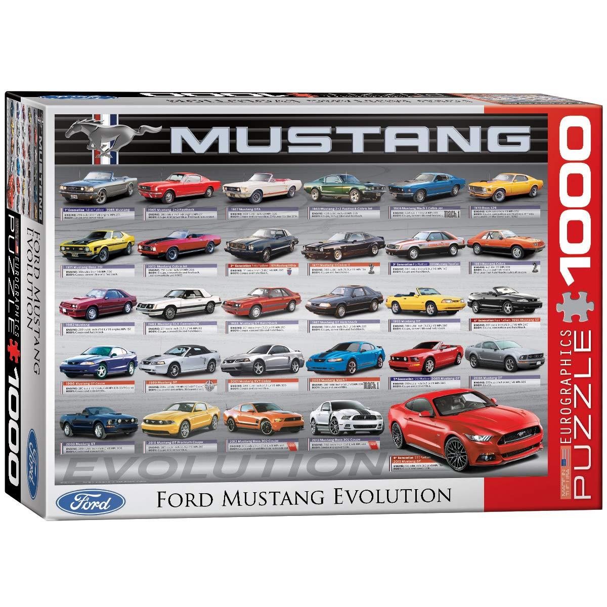 EuroGraphics Puzzle Ford Mustang Evolution (1000 Teile) für 10,49€ (Amazon Prime & Thalia Club)