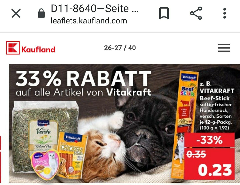 Vitakraft Produkte 33% Rabatt