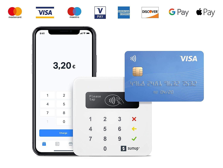 [Gewerbetreibende] SumUp Air Bezahlterminal (Bluetooth, NFC, App, Akku für ~500 Transaktionen, 0.95% für EC oder 2.75% für KK)