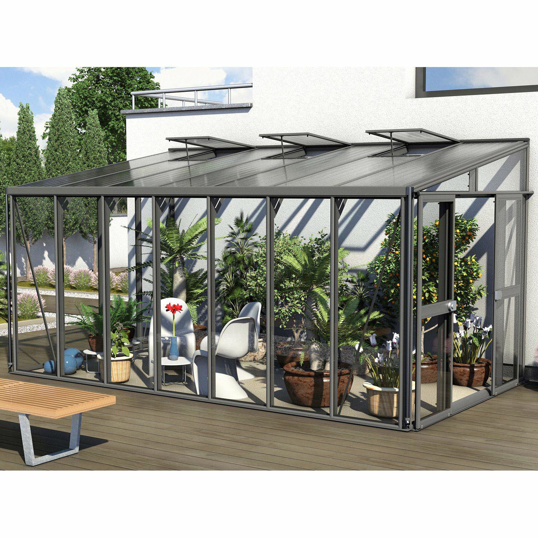 Vitavia Athena 10200 ESG/HKP: Gewächshaus (10,2m² Grundfläche, Schiebetür, 2 Dachfenster, ESG Sicherheitsglas)