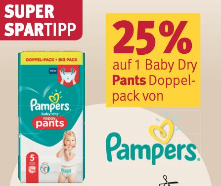 Rossmann-Deals in der Übersicht für die Aktionswoche (KW12) z.B. 25% Rabatt auf Pampers Baby Dry Pants