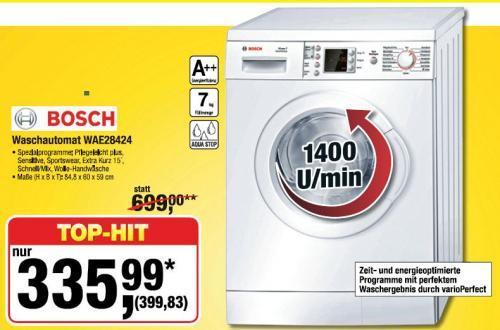 Bosch Waschautomat WAE28424 @ Metro Hannover 399,83 €
