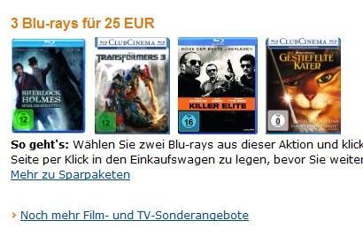 [Amazon] 3 Blu-rays für 25 EUR wieder verfügbar!