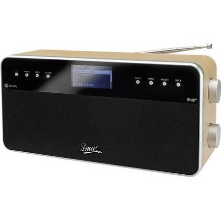Dual IR 6S Internet Tischradio DAB+, UKW AUX, Internetradio Spotify Holz, Schwarz [Voelkner Sofortüberweisung]