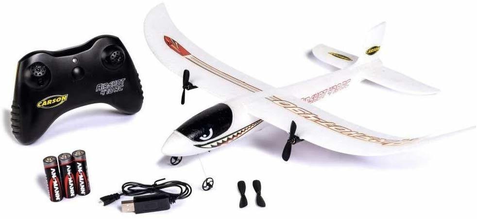 Carson RC Sport Airshot 470 RC 2.4G Einsteiger Modellflugzeug 100% RTF inkl. Batterien & Fernsteuerung für 30€ (Müller Abholung)