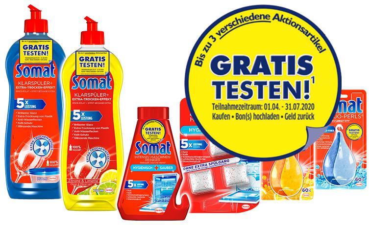 [GzG] GRATIS testen 100% Cashback auf Somat Zusatzprodukte (bis zu 3 versch. Artikel mit Aktionssticker) - vom 01.04. bis 31.07.2020