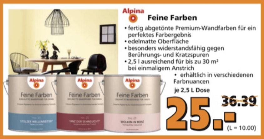 Alpina Feine Farbe bei Globus evtl Bauhaus TPG