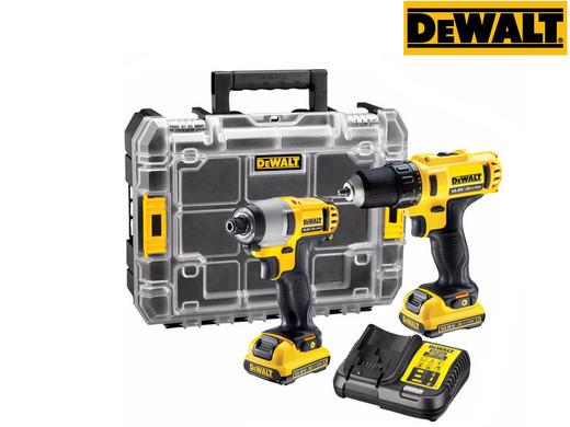 """DeWalt 10.8V-Set """"DCK211D2T"""" (Schlagschrauber, Bohrschrauber, 2x 2Ah-Akku, Ladegerät, TSTAK) [iBOOD]"""
