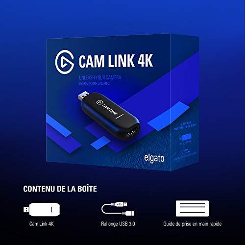 [Amazon.fr] Elgato Cam Link 4K, Live-Streamen und Aufnehmen mit DSLR, Action Cam oder Camcorder in 1080p60 oder 4K bei 30 fps, HDMI Capture