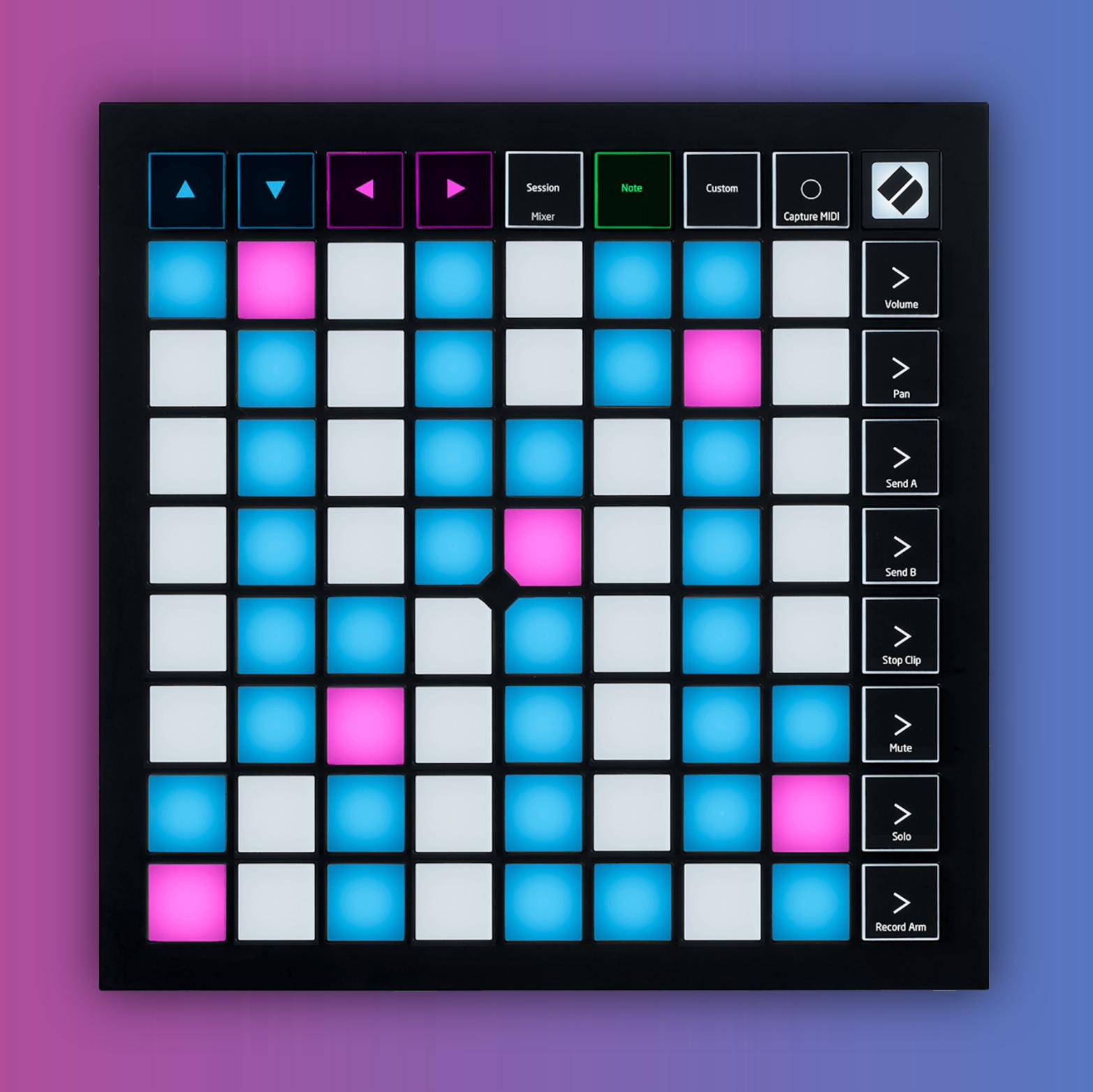 Novation Launchpad X: DAW-Controller (64 RGB Pads, 16 Tasten, 4 Modi, MIDI In-/Out)