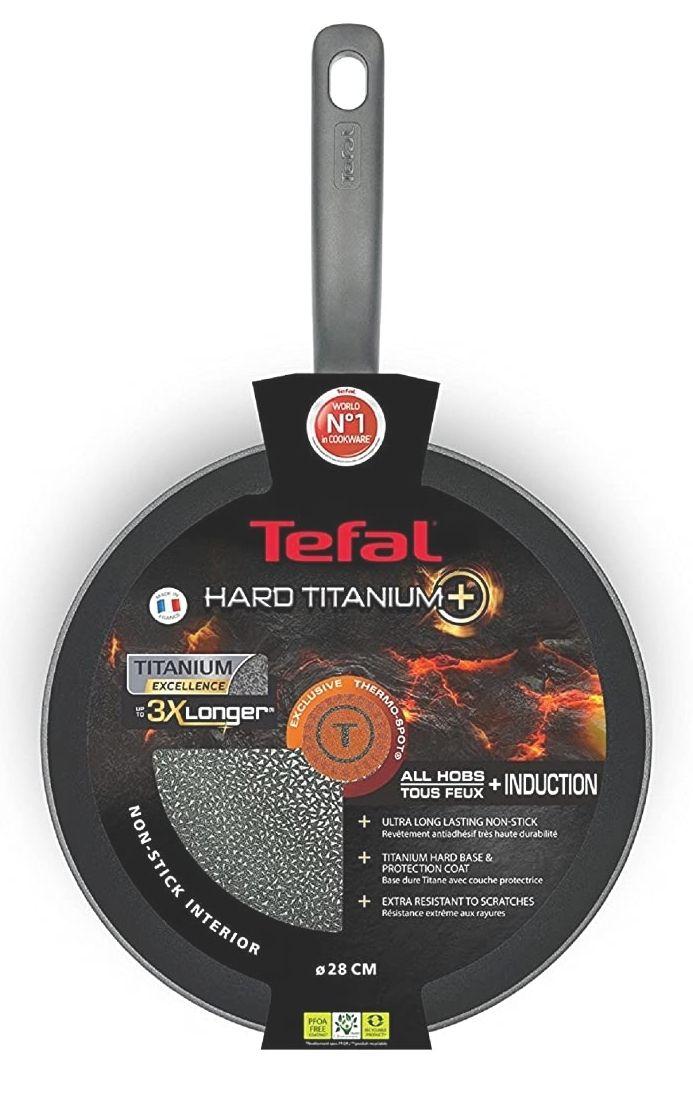 Tefal Hard Titanium Plus Pfanne, verschiedene Größen z.B. 20cm, globus