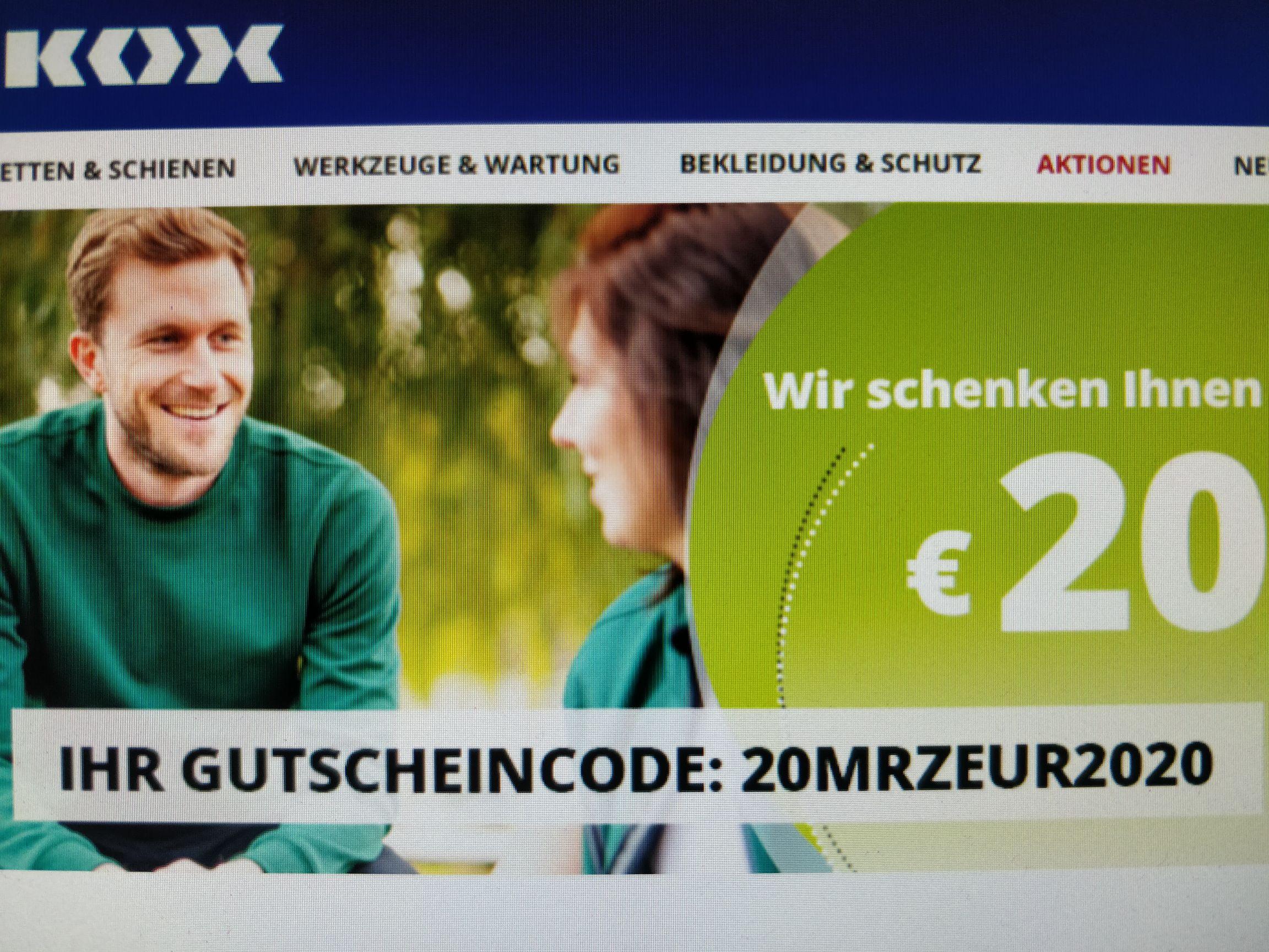 20€ Gutschein bei Kox.eu