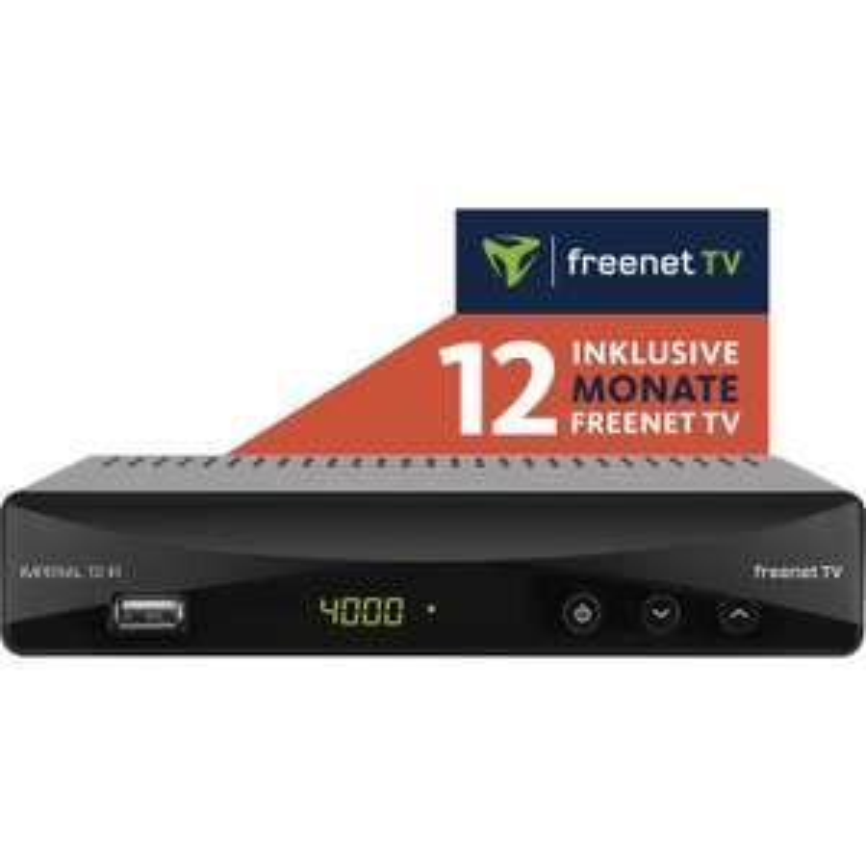 DVB-T2 HD-Receiver Imperial T2 IR + 12 Monate freenet TV (Irdeto-Entschlüsselung integriert, HDMI, Scart, LAN, USB inkl. Media Player)