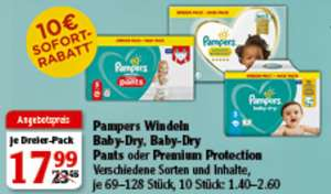 [Lokal] Globus I 2 x 3er Pack I Pampers Windeln, Premium Protection, Baby Dry, Baby Dry Pants 25,98€