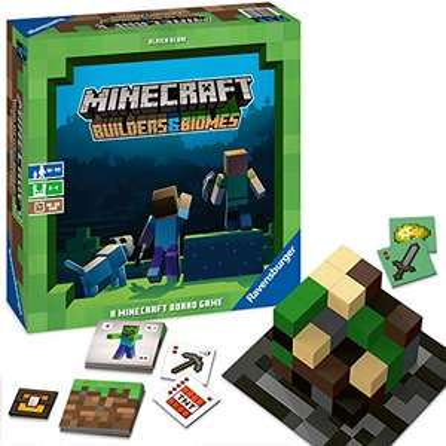 Minecraft Builders & Biomes - Brettspiel für 19,99€ (Amazon Prime)