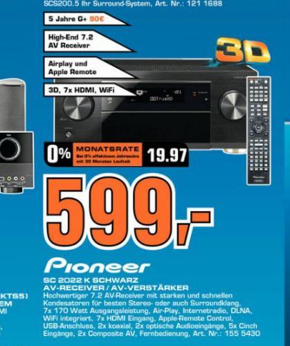 Pioneer SC-2022-K saturn  dortmund/lünen/soest  599€ uvp 999€