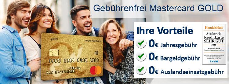 50 € Startguthaben für Advanzia Gebührenfrei Mastercard GOLD + 40€/40€ KwK möglich // kein Shoop nötig