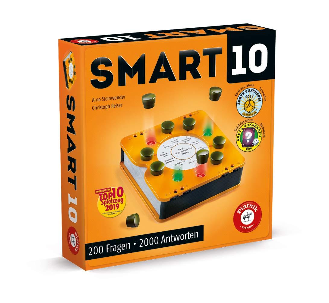 """Smart 10 """"Das revolutionäre Quizspiel"""" für 2-8 Spieler [Gesellschaftsspiel; Spiel des Jahres '17 in Schweden & '19 in Dänemark]"""