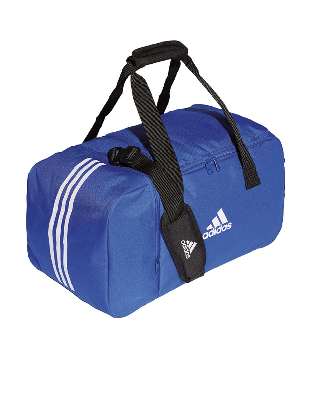 Adidas Tiro 19 Duffelbag S für 13€ - Trainingstasche in Blau/Weiß, 50x25x25 cm