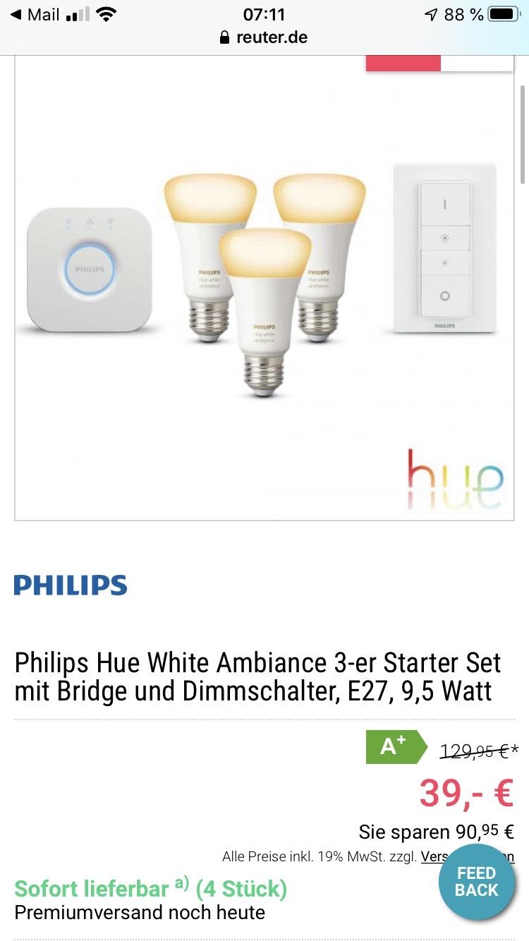 Reuter.de: Schnell zugreifen!!!! Hue für 39€ plus Versand