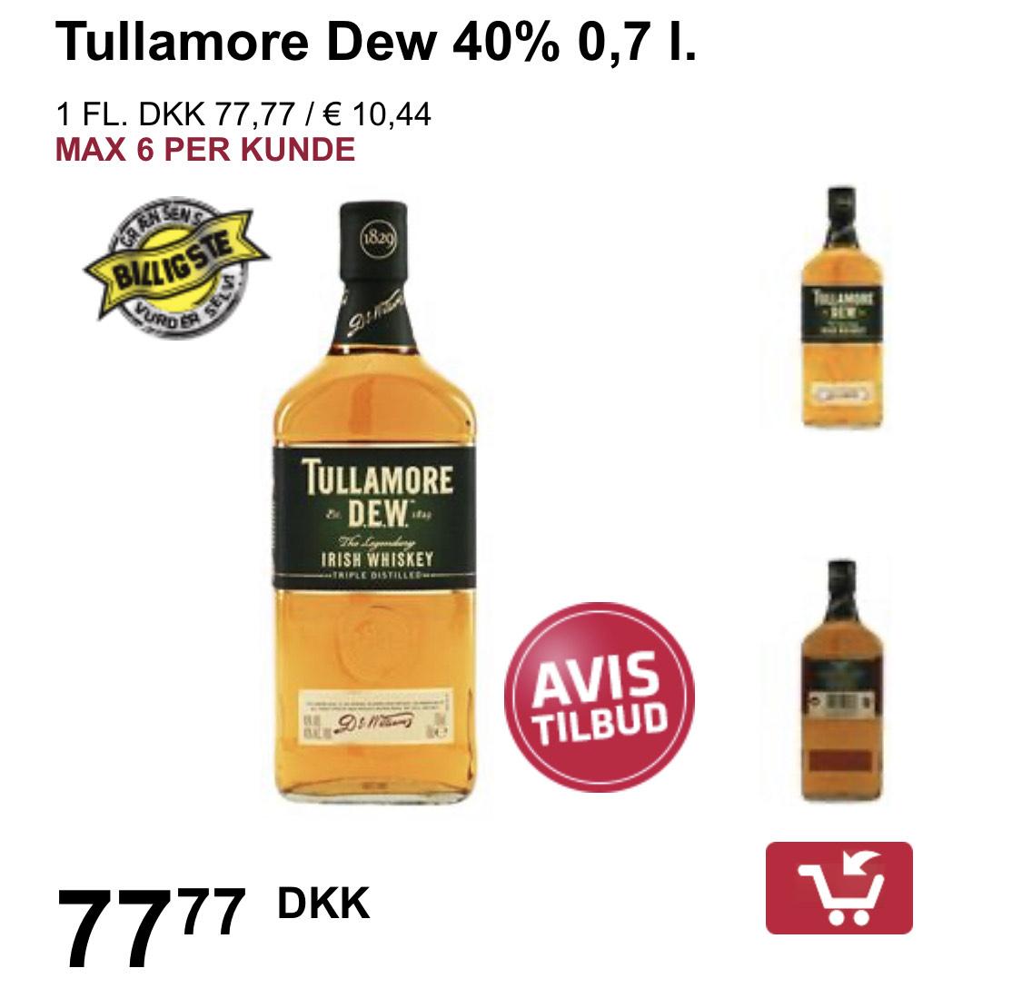 Tullamore Dew Whisky bei allen Fleggaard Märkten