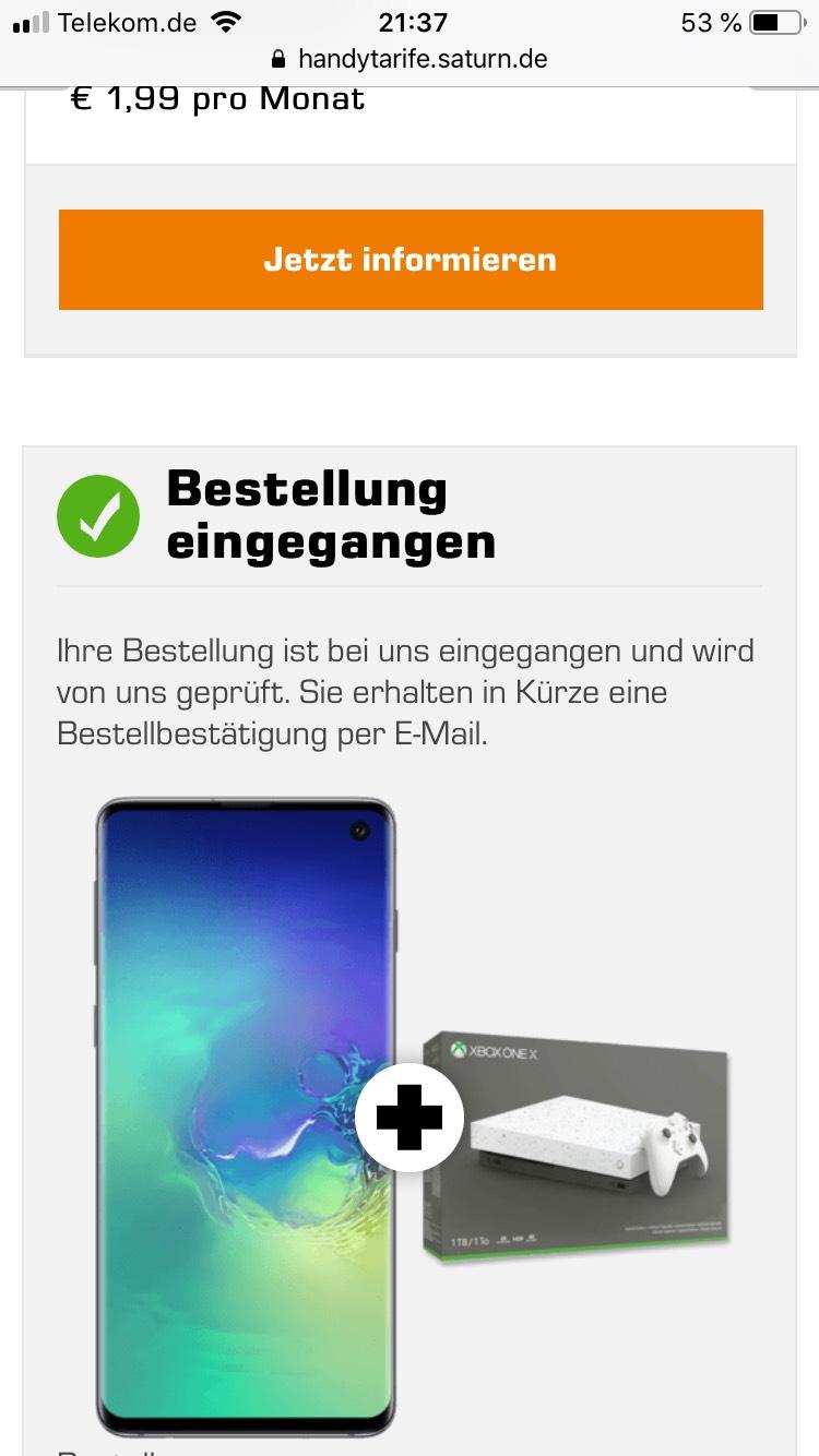 debitel Telekom vertrag Samsung Galaxy s10 128gb Plus X Box one X 1tb
