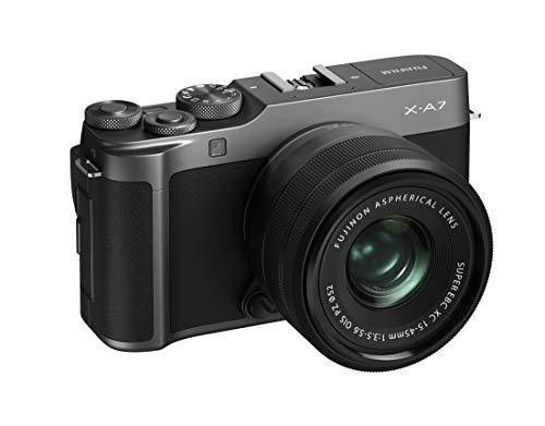 Fujifilm X-A7 Systemkamera (24,2 MP) inkl. Kit XC15-45mm F3.5-5.6 OIS PZ, dunkelsilber
