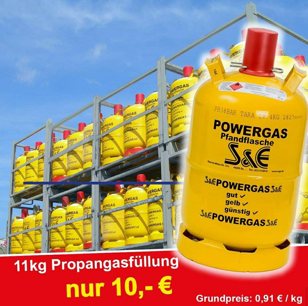[Lokal]11kg Propangas Füllung bei S&E in Dortmund