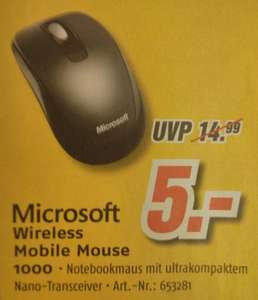 [Medimax offline] Microsoft Wireless Mobile Mouse 1000