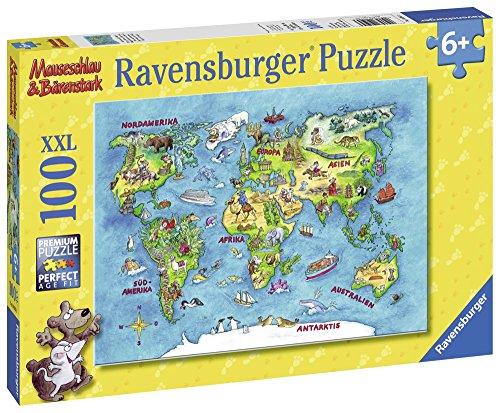 [Prime] Puzzle: Ravensburger 10595 - Reise um die Welt, 100 Teile