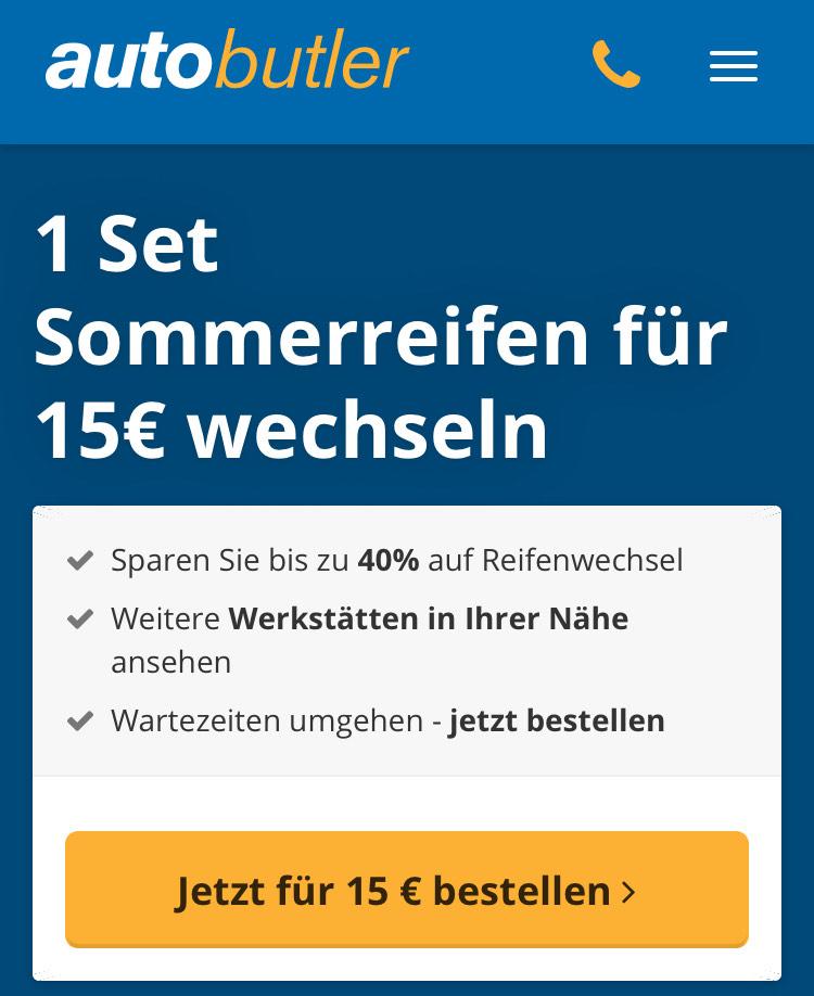Angebot des Jahres: Reifenwechsel für nur 15€