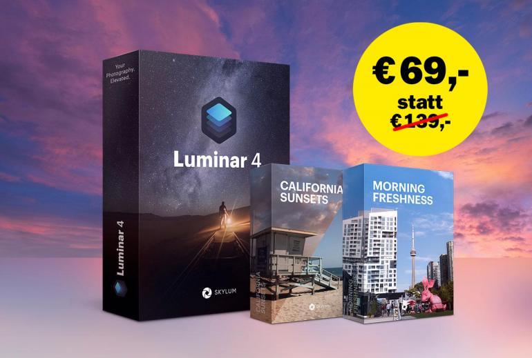 50 % Rabatt Luminar 4 plus 2 Premium-Sky-Kollektionen von Skylum
