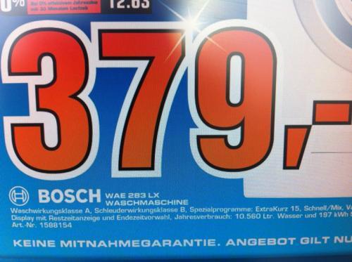 [LOKAL] Bosch WAE283LX Waschmaschine A++