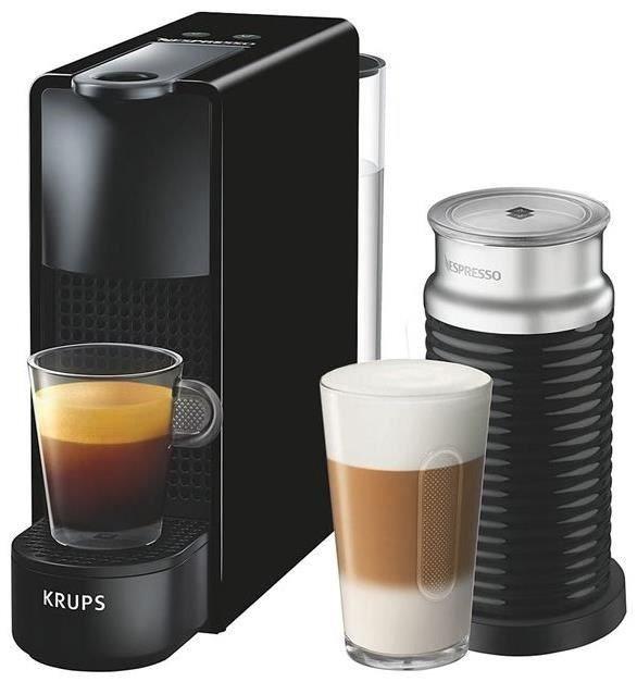 Krups Essenza Mini XN 1118 Nespresso+Aeroccino schwarz [Kapselmaschine + Milchaufschäumer]
