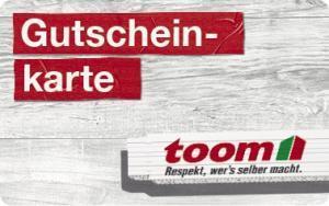 10% Rabatt auf die 25€ Toom Baumarkt Gutscheinkarte (3 Jahre gültig) [Penny online & offline]