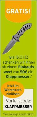 Messer als Zugabe beim Outdoor-/Waffenhändler Frankonia.de