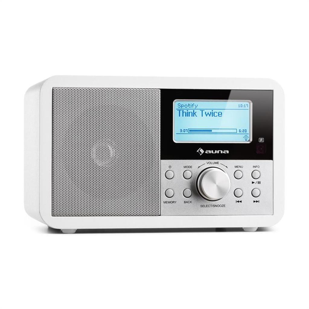 auna Worldwide - Internetradio, Digitalradio, WLAN-Radio, Netzwerkplayer, DAB/DAB+, UKW, MP3-USB-Port, Wecker, Sleep-Timer, Fernbedienung