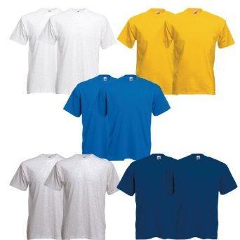 10 Fruit of the Loom T-Shirt S-XXXL in verschiedenen Farben