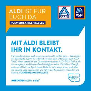 "Aldi Talk - Unbegrenztes ""High Speed"" Datenvolumen bis Ende April (384 Kbit/s)"