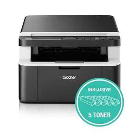 BROTHER DCP1612W Bundle inkl. 5 Tonerpatronen Multifunktionsdrucker (hellgrau,dunkelgrau / Laser / 3-in-1 / 2.400 x 600 dpi / USB,) [Expert]