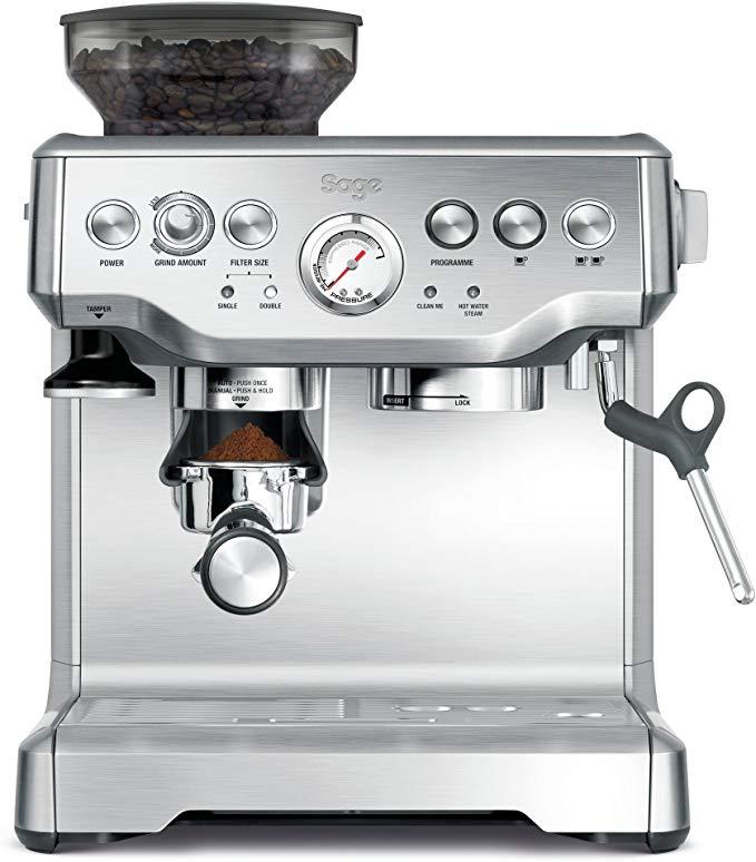 SAGE SES875 the Barista Express, Espressomaschine, Siebträger mit Mühle